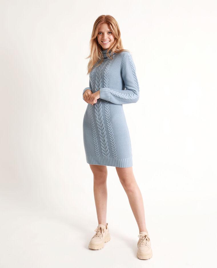 Robe pull torsardée bleu - Pimkie