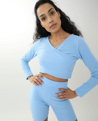 Top croisé bleu - Pimkie