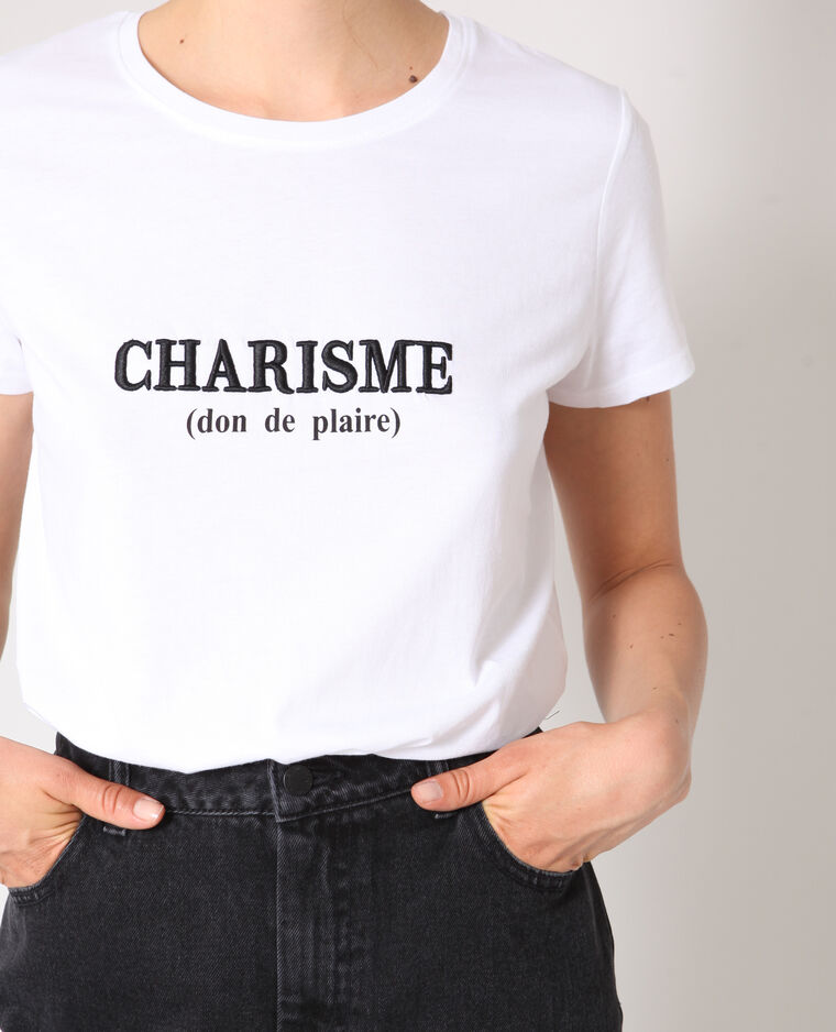 T-shirt charisme blanc - Pimkie
