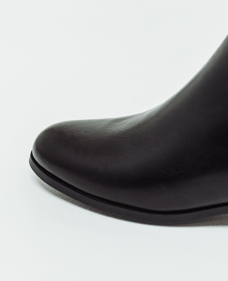 Bottines en faux cuir noir - Pimkie