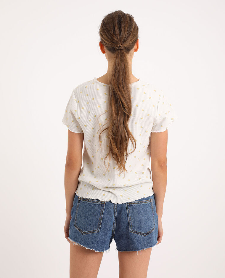 T-shirt imprimé citrons blanc cassé