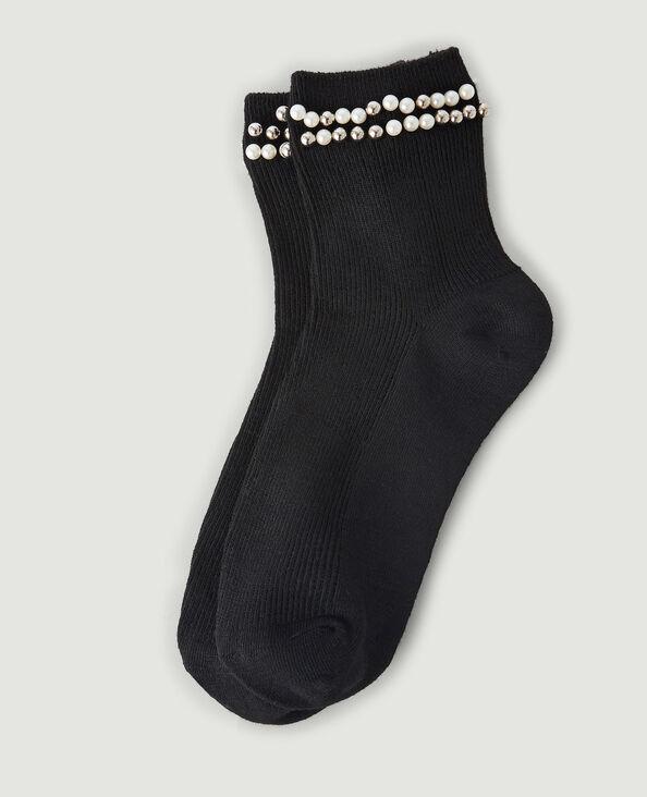 Chaussettes perles noir - Pimkie