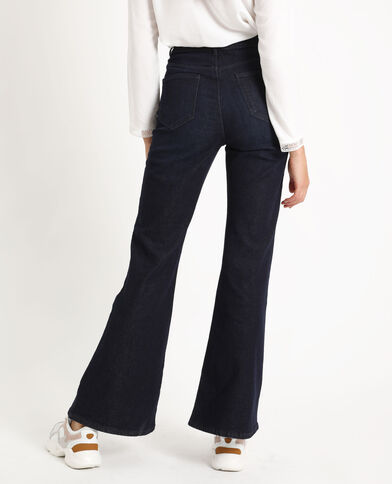 Jean flare high waist bleu foncé