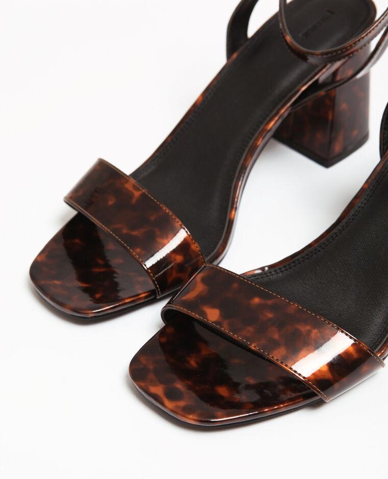 Sandales effet turtle Marron