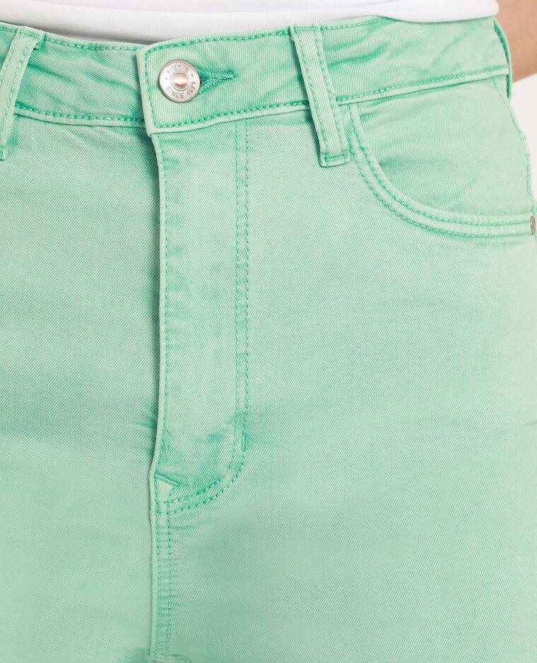 Pantalon skinny high waist vert