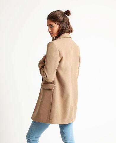 Manteau drap de laine camel - Pimkie