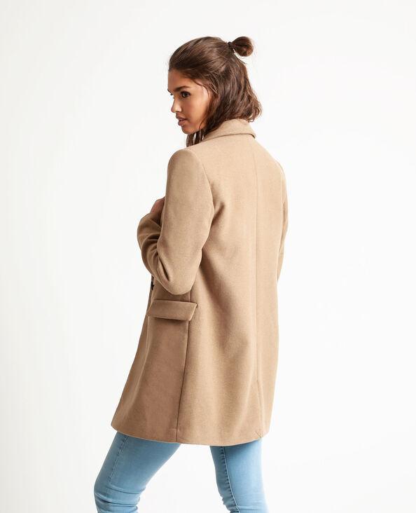 Manteau drap de laine caramel - Pimkie