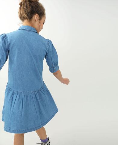 Robe en jean bleu délavé
