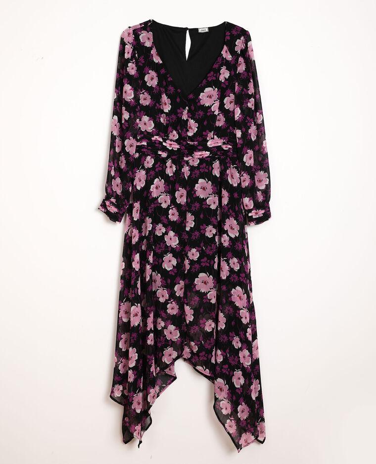 Robe à fleurs noir - Pimkie