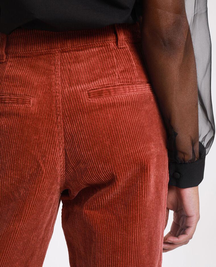 Pantalon velours rouille