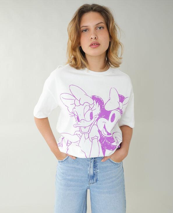 T-shirt ample Minnie et Daisy blanc cassé - Pimkie