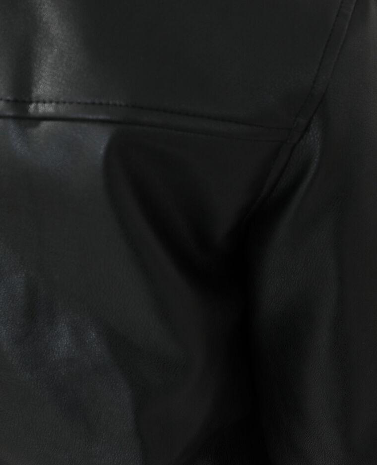 Veste en simili cuir noir - Pimkie