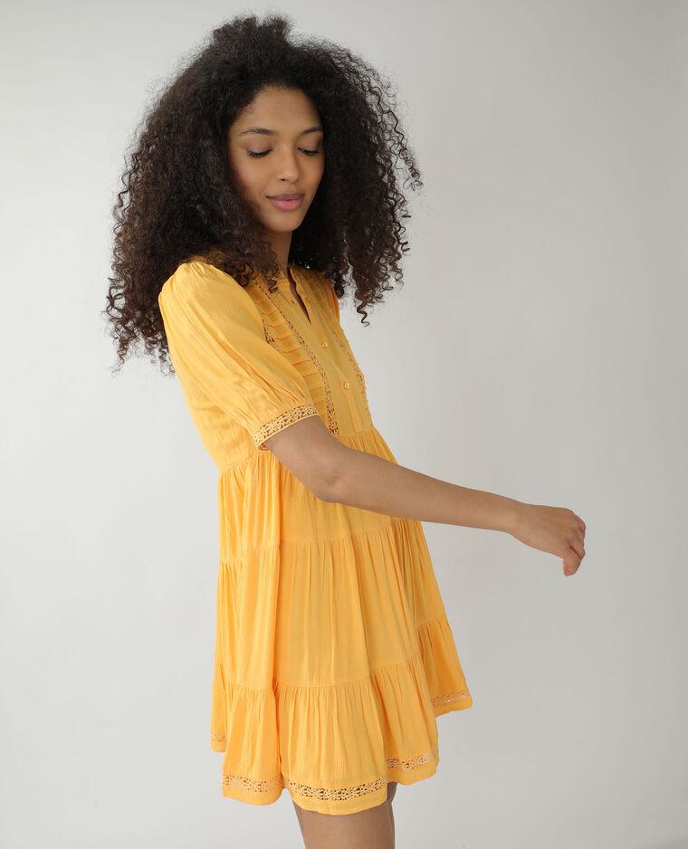 Robe avec guipure orange - Pimkie