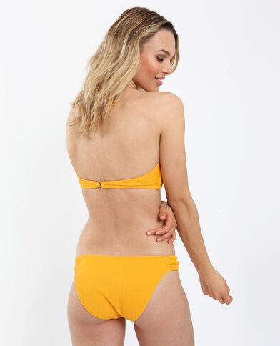 Bas de bikini texturé jaune