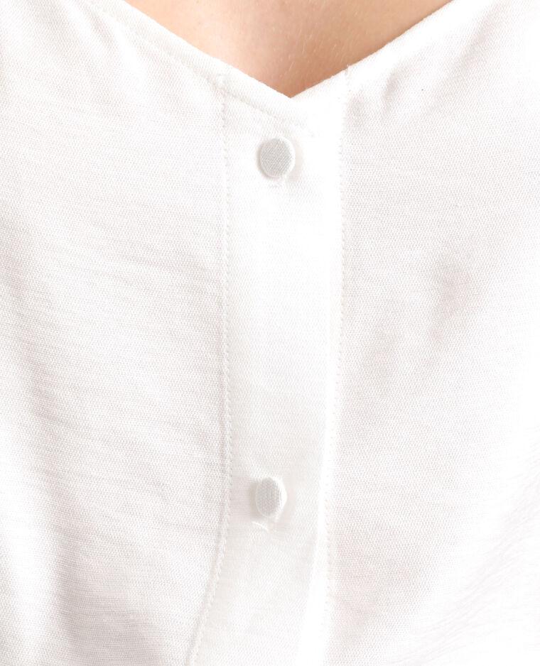 Top à boutons blanc cassé