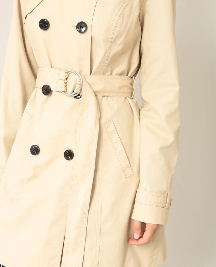 Trench-coat classique beige ficelle
