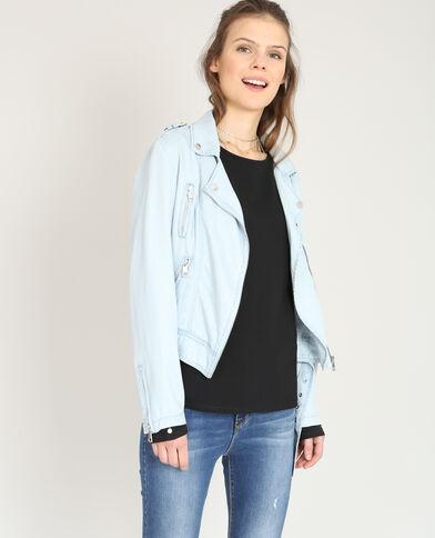 Veste style perfecto fluide bleu clair