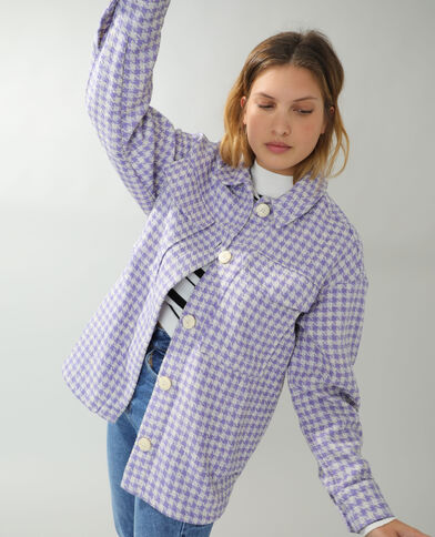 Surchemise en tweed violet - Pimkie
