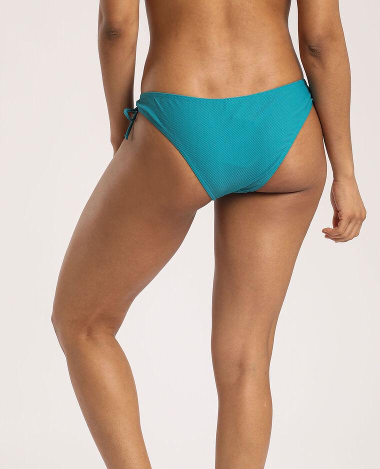 Bas de bikini texturé turquoise