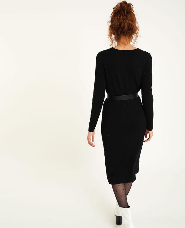 Robe en maille noir