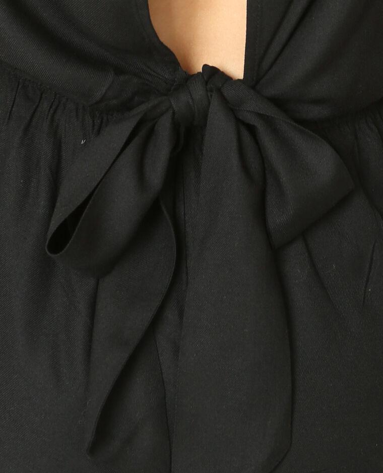 Combishort à dos ouvert noir