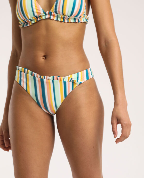 Bas de bikini rayé jaune