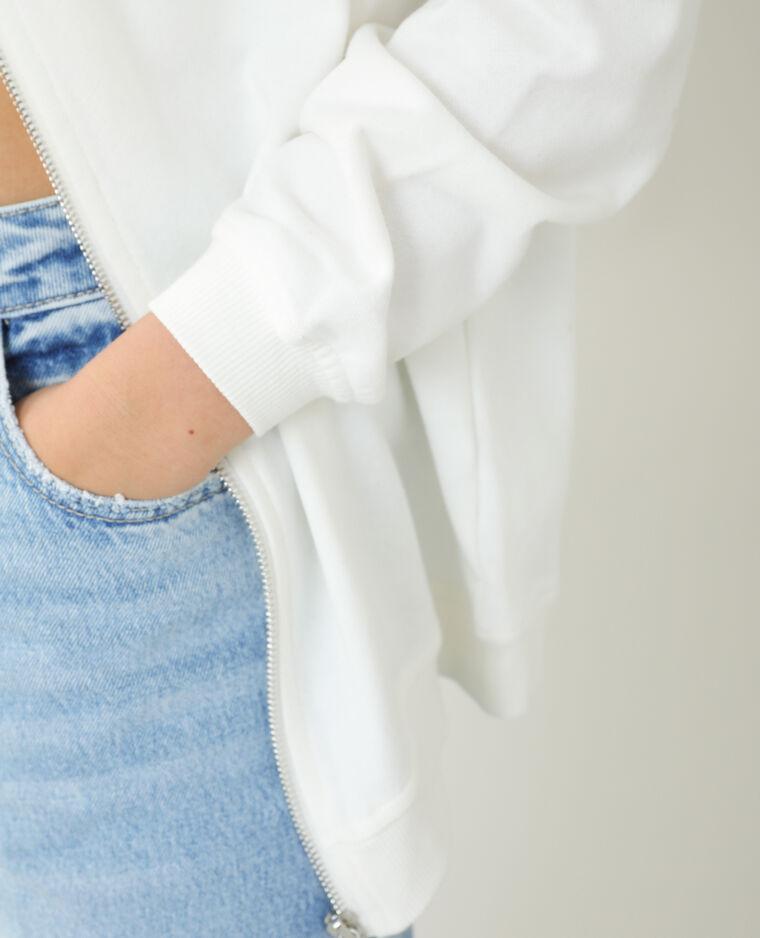 Sweat à capuche oversize blanc cassé - Pimkie