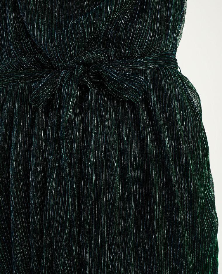 Robe lurex vert