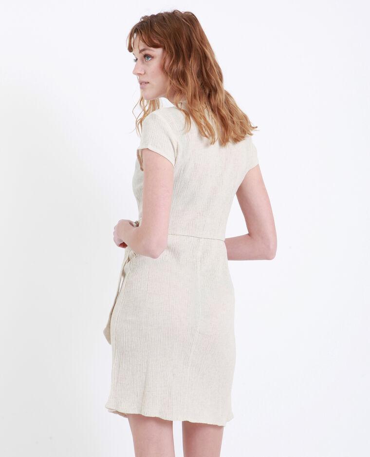 Robe croisée beige