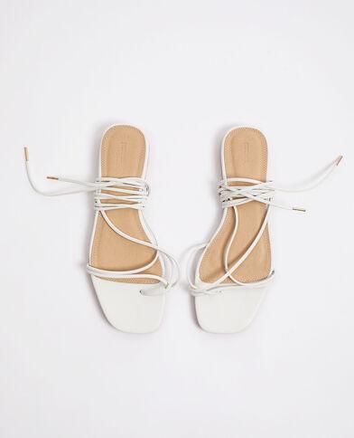 Sandales à lacets blanc