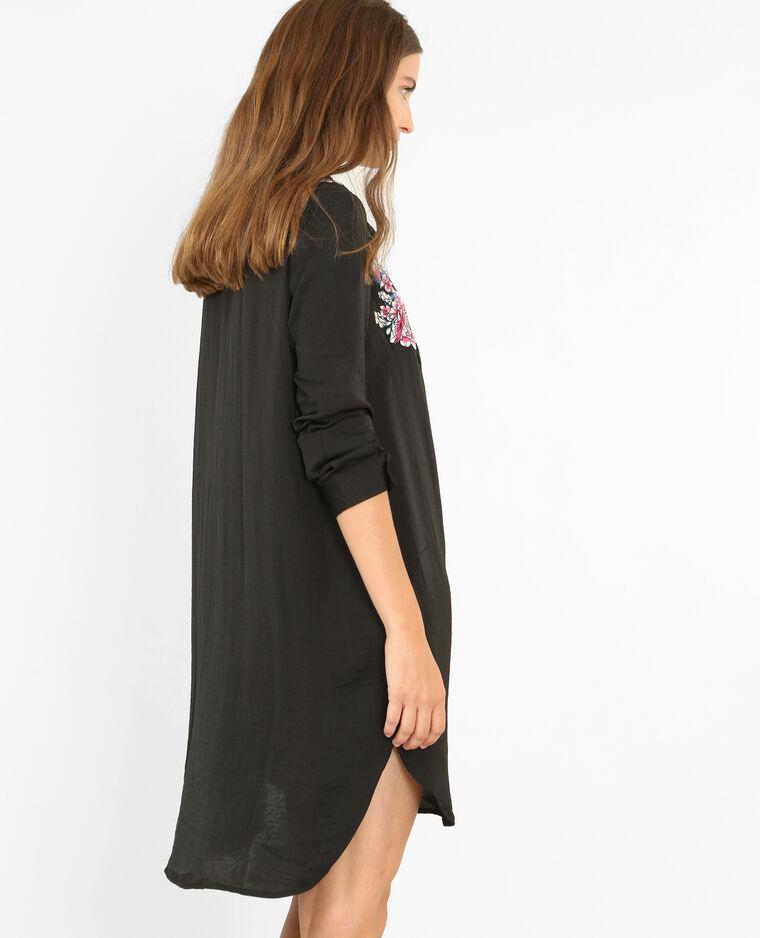 522adfbbe23 Robe chemise brodée noir  Robe chemise brodée noir
