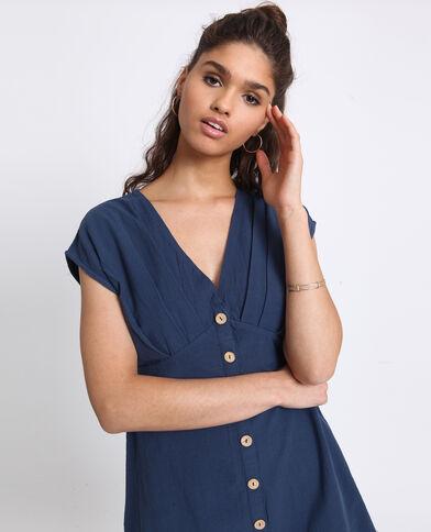 a4fc3fc7207 Robe boutonnée bleu foncé