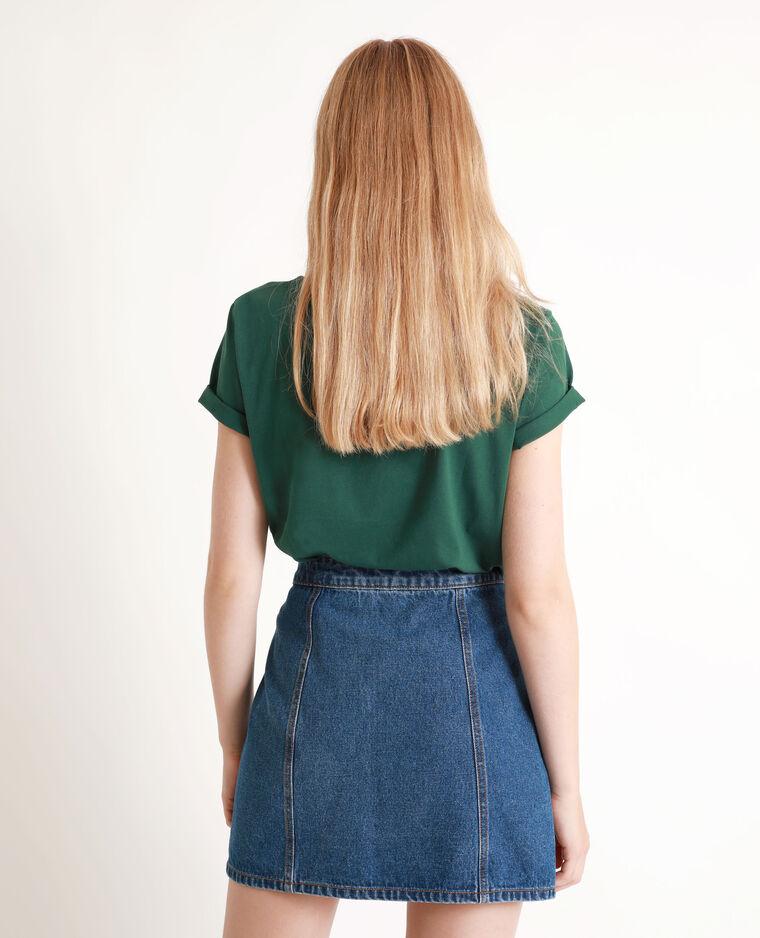 T-shirt à perles vert