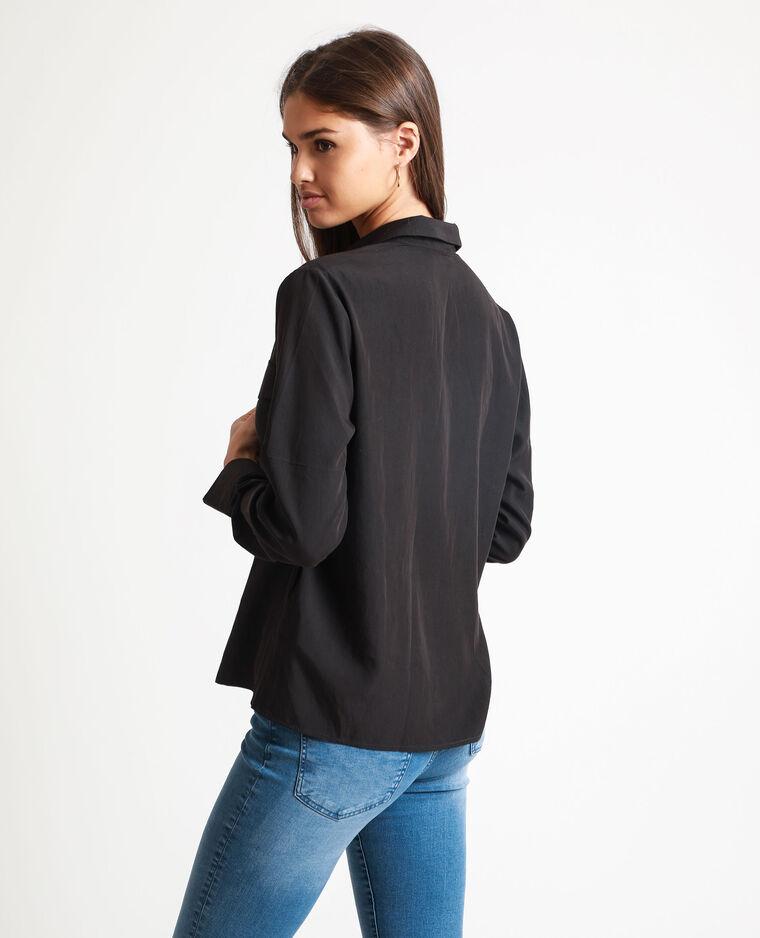 Chemise carrée noir