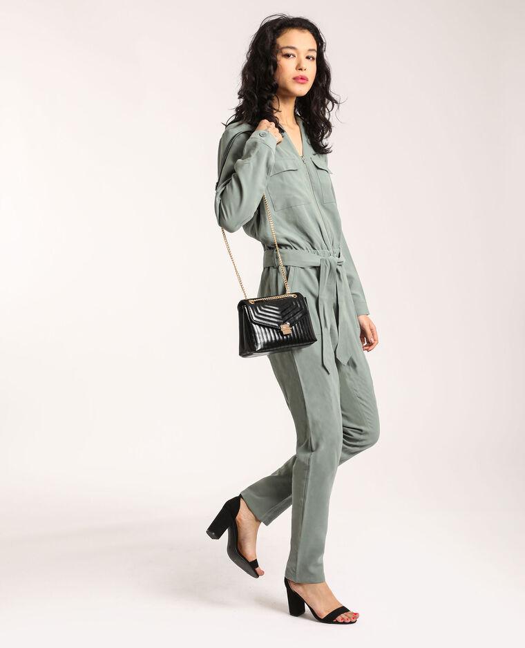 Combi-pantalon à poches vert