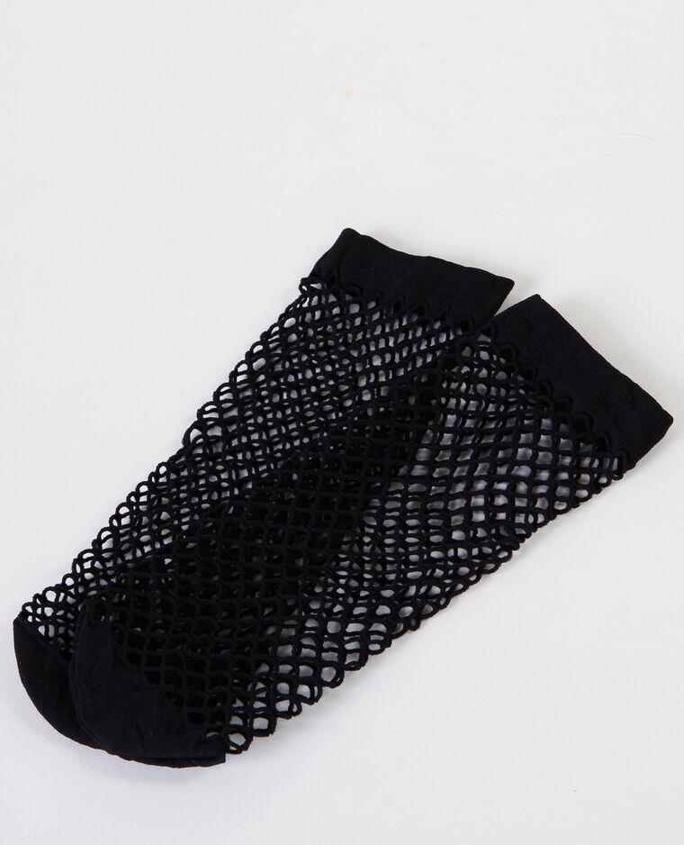 Chaussettes résille noir - Pimkie