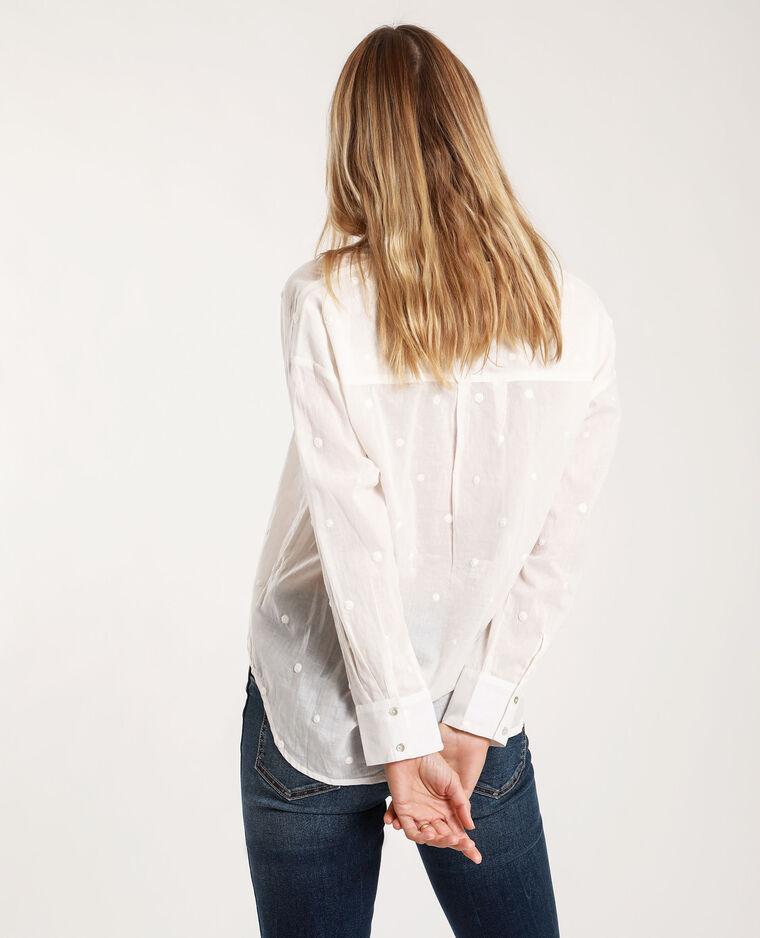 Chemise à motifs blanc cassé