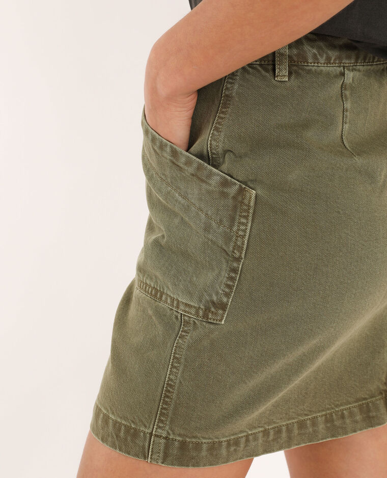Jupe en jean zippée kaki - Pimkie