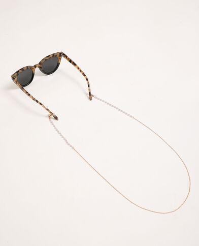 Chaînette pour lunettes doré