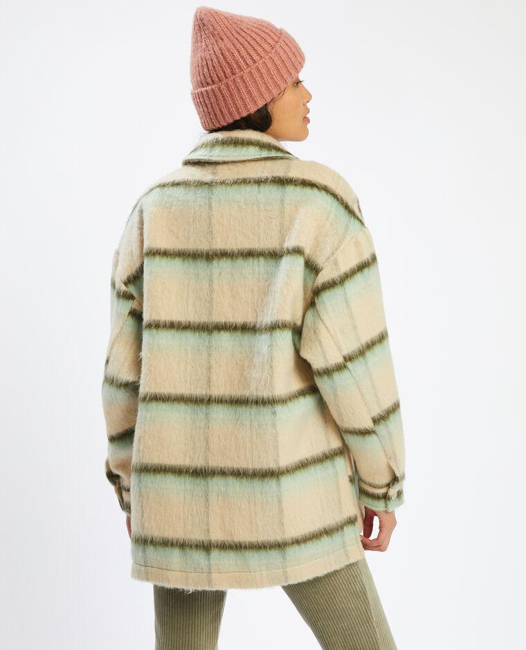 Surchemise oversize à carreaux vert - Pimkie