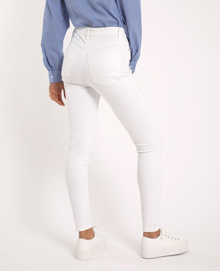 Jean skinny taille haute blanc