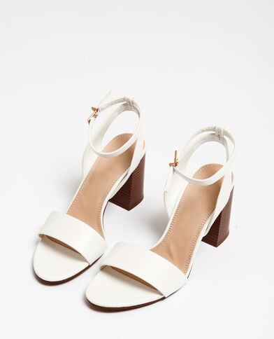 Sandales blanches blanc