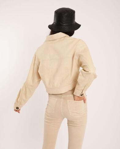 Veste courte blanc cassé - Pimkie