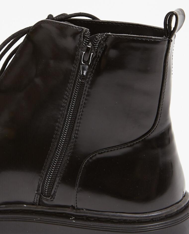 Boots rangers à rivets noir