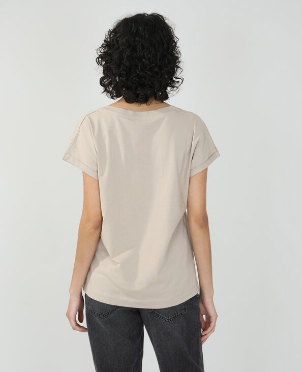 T-shirt basique oversize beige - Pimkie