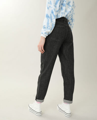 Jean mom high waist noir - Pimkie