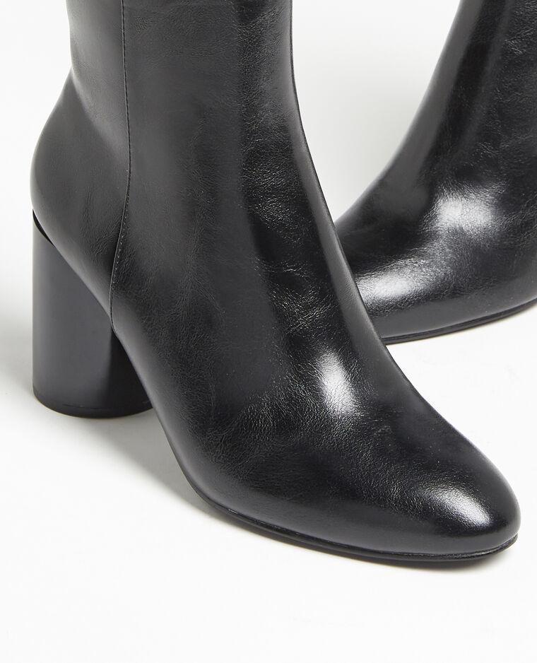 Boots à talons ronds noir - Pimkie