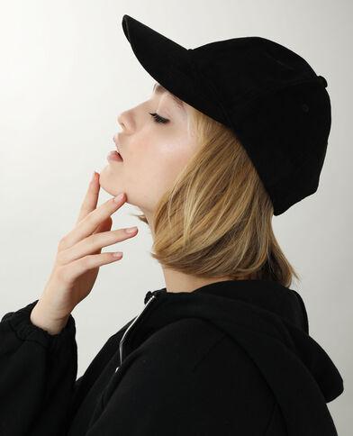 Casquette suédine noir - Pimkie