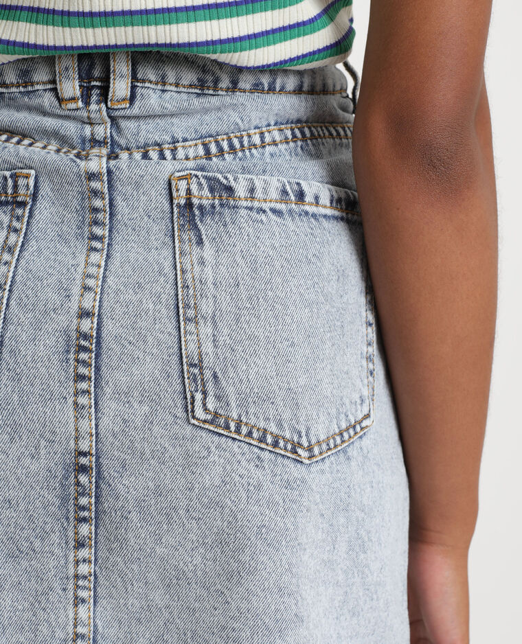 Jupe en jean délavé bleu