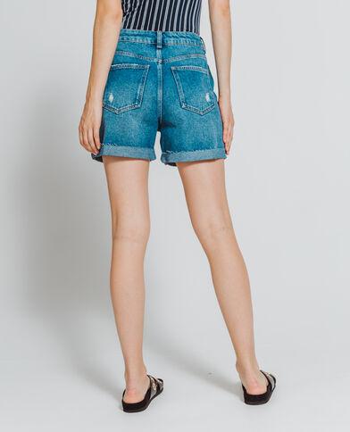 Short en jean bleu